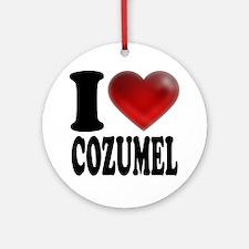 I Heart Cozumel Round Ornament