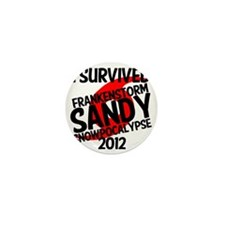 Frankenstorm Sandy Snowpocalypse lol Mini Button
