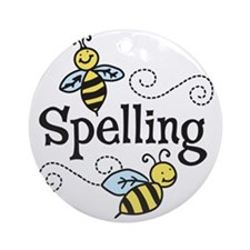 Spelling Round Ornament