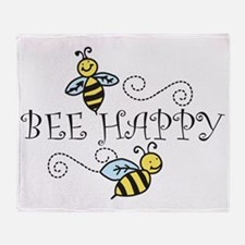 Bee Happy Throw Blanket