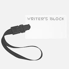 Writers Block Luggage Tag