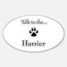 Harrier Talk Oval Decal