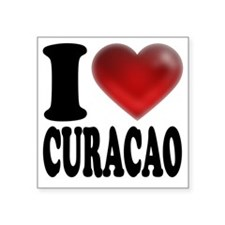 "I Heart Curacao Square Sticker 3"" x 3"""