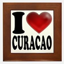 I Heart Curacao Framed Tile