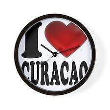 I Heart Curacao Wall Clock