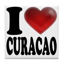 I Heart Curacao Tile Coaster