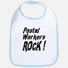 Postal Workers Rock ! Bib