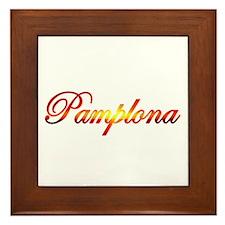 Pamplona, Spain Framed Tile