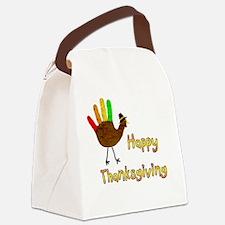 Hand Turkey Canvas Lunch Bag