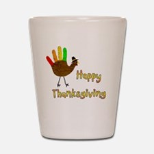 Hand Turkey Shot Glass