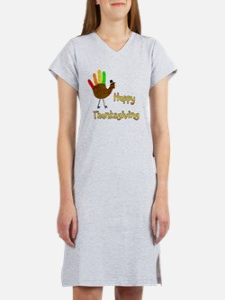 Hand Turkey Women's Nightshirt