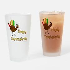Hand Turkey Drinking Glass