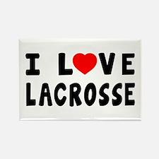 I Love Lacrosse Rectangle Magnet