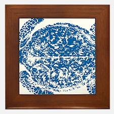 Blue Tongan turtle Framed Tile