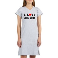 I Love Long Jump Women's Nightshirt