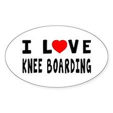 I Love Knee Boarding Decal