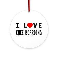 I Love Knee Boarding Ornament (Round)