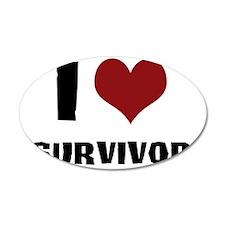 I Love Survivor Wall Decal