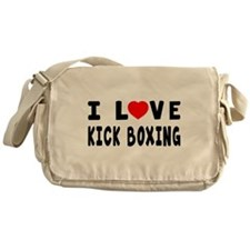 I Love Kick Boxing Messenger Bag