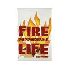 Fire Represents Life Rectangle Magnet