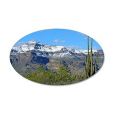 Superstition Peak Snow 35x21 Oval Wall Decal