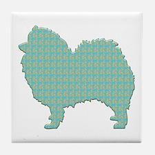 Paisley Spitz Tile Coaster