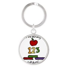 Knowledge Is Contagious Round Keychain