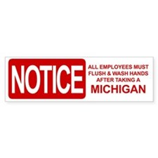 Flush Michigan Bumper Sticker