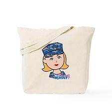 Navy Woman Tote Bag