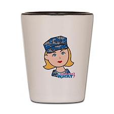 Navy Woman Shot Glass