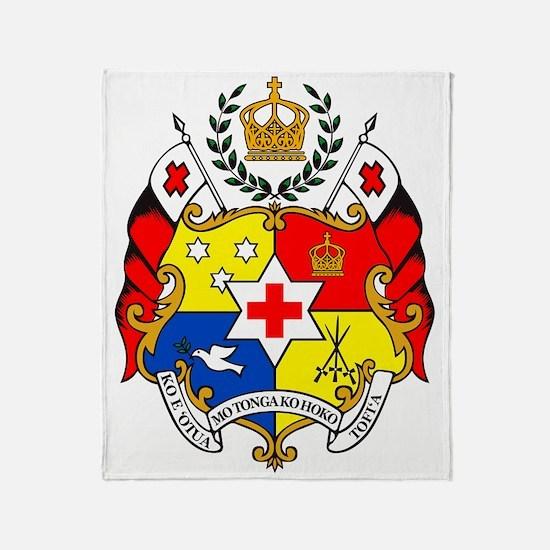 The Coat of Arms - Sila o Tonga Throw Blanket
