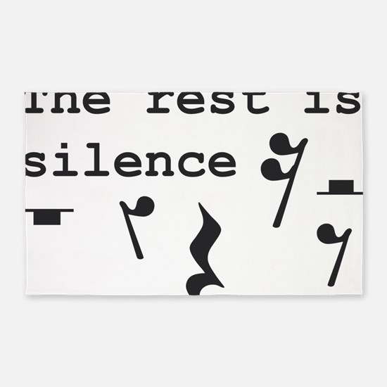 The rest is silence 3'x5' Area Rug