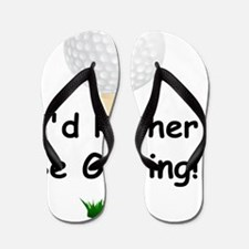 golfball large Id rather be golfing Flip Flops