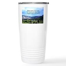 God and Universe Conspi Travel Mug
