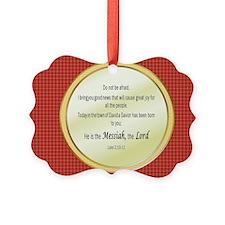 Birth of Christ Verses Ornament