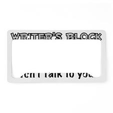 Writers Block License Plate Holder