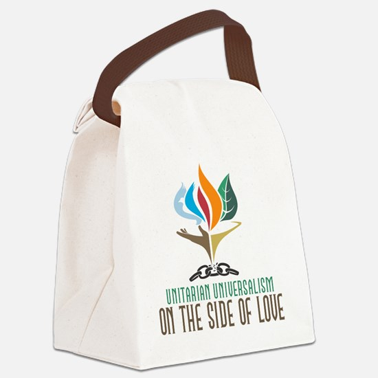 UU On the Side of Love Canvas Lunch Bag