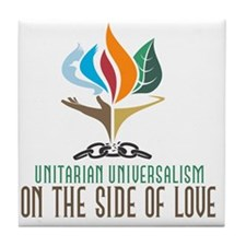 UU On the Side of Love Tile Coaster