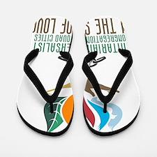 UUCQC On the Side of Love Flip Flops