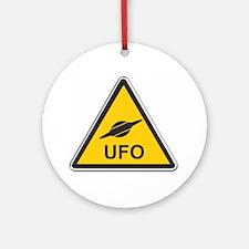 UFO Round Ornament
