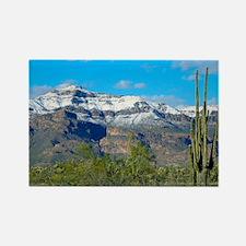 Superstition Peak Snow Rectangle Magnet