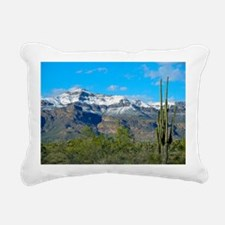 Superstition Peak Snow Rectangular Canvas Pillow