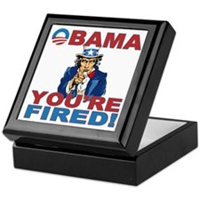obama your fired Keepsake Box