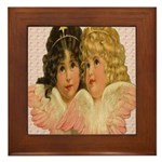 Twin angels Framed Tile