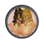 Twin angels Wall Clock