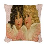 Twin angels Woven Throw Pillow