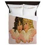 Twin angels Queen Duvet