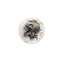 Zombie head Mini Button