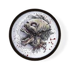 Zombie head Wall Clock