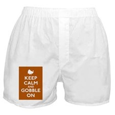 Keep Calm and Gobble On Boxer Shorts
